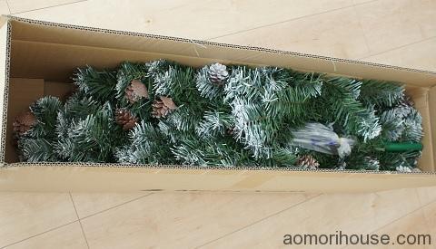 クリスマスツリー梱包中身