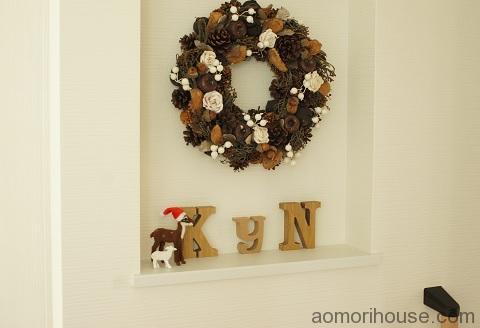 玄関ニッチクリスマス