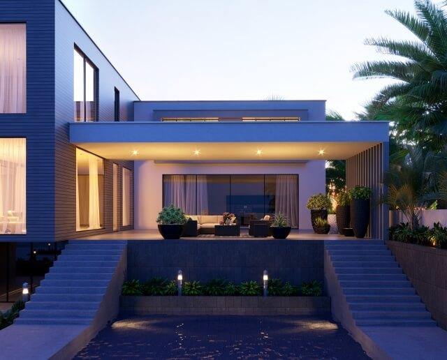 明かりの灯る家
