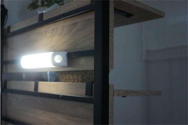 ライトを磁石で設置