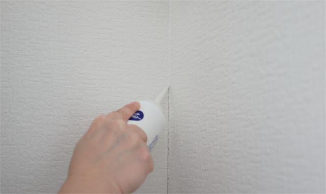 壁紙継ぎ目補修